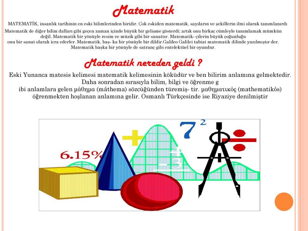 Matematik nereden geldi