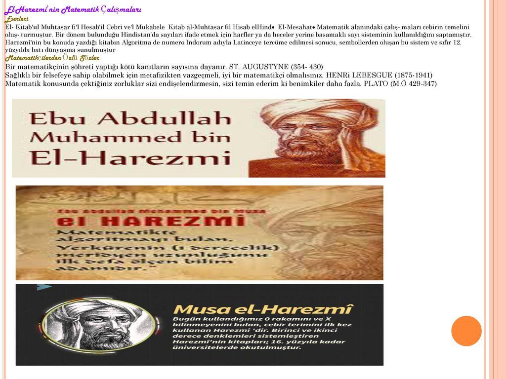 El-Harezmi'nin Matematik Çalışmaları