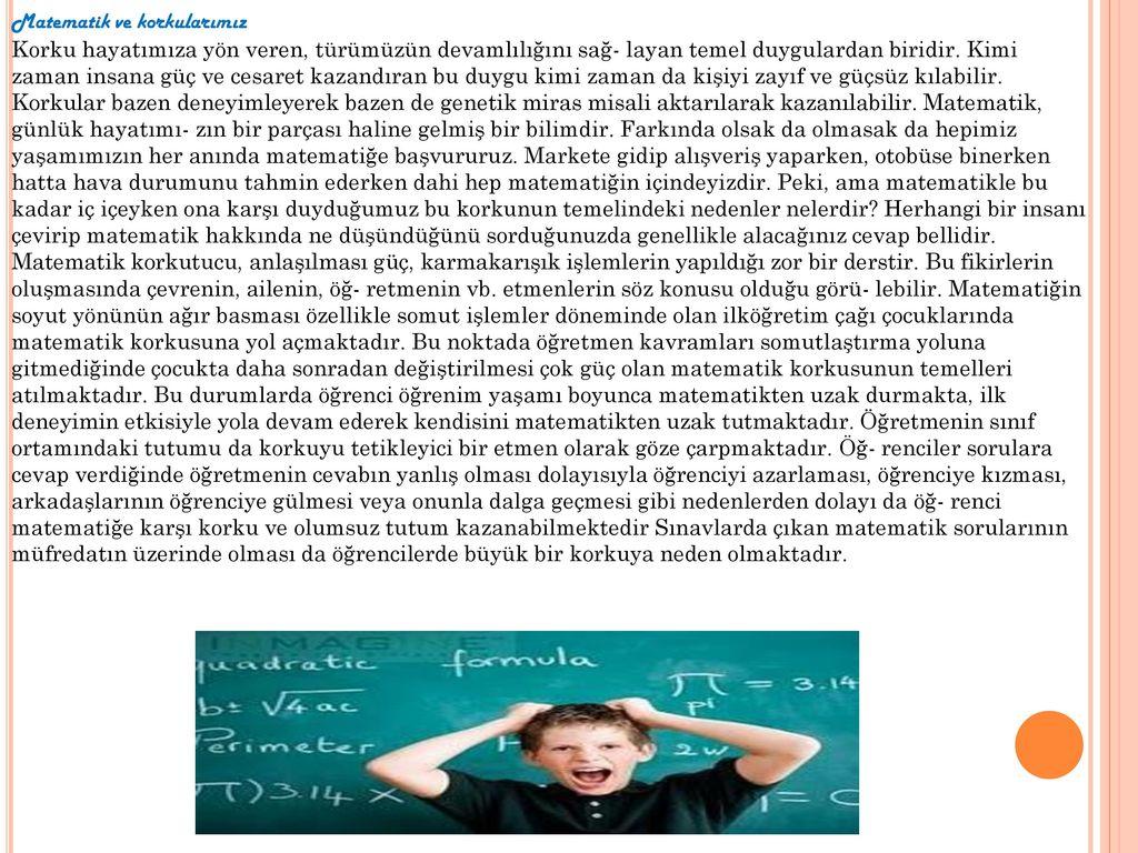 Matematik ve korkularımız