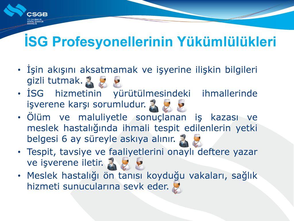 İSG Profesyonellerinin Yükümlülükleri