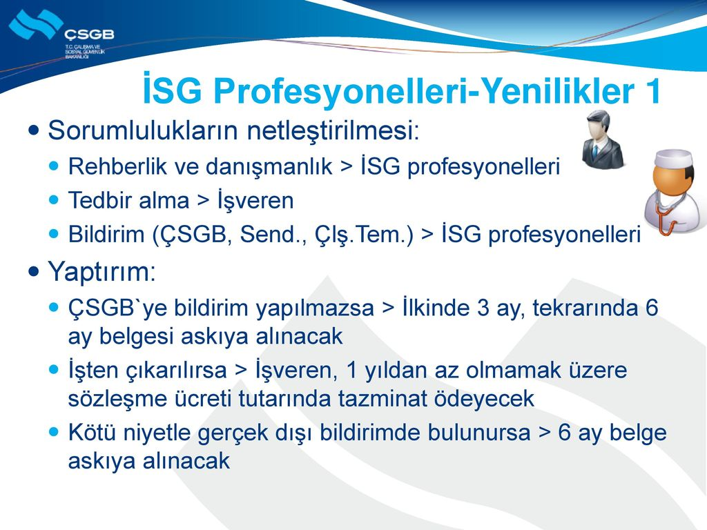İSG Profesyonelleri-Yenilikler 1