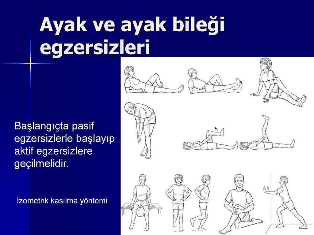 Ayak ve ayak bileği egzersizleri