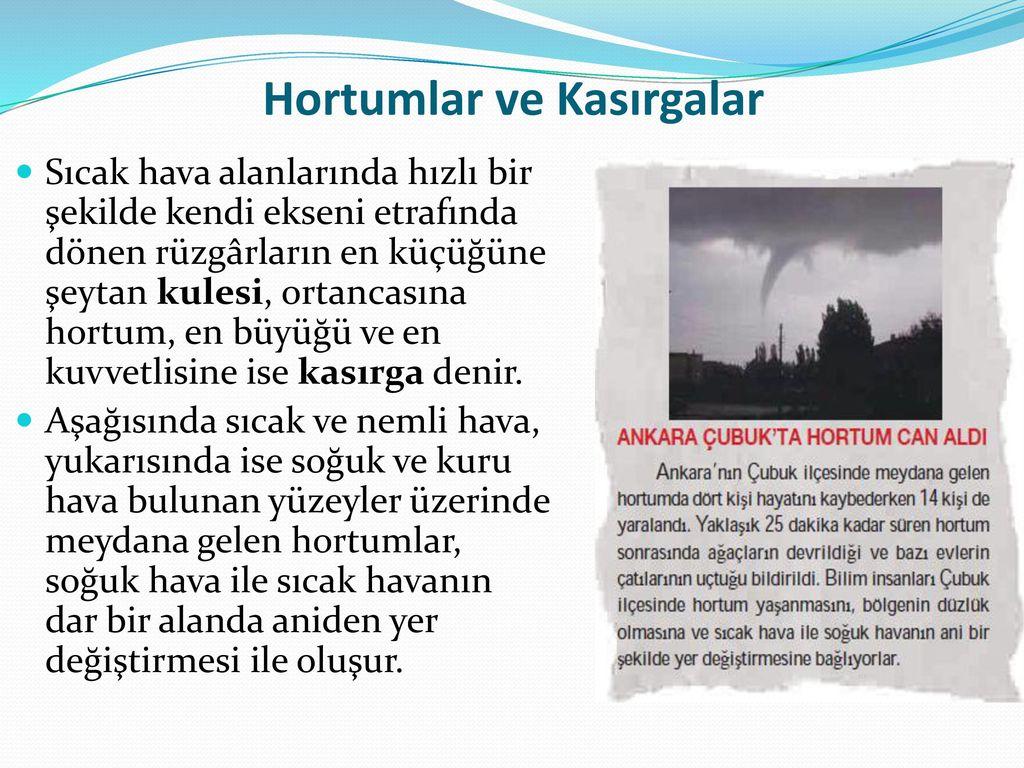 Hortumlar ve Kasırgalar