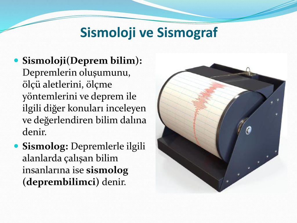 Sismoloji ve Sismograf