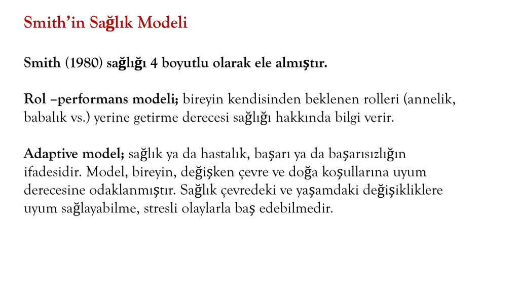 Smith'in Sağlık Modeli