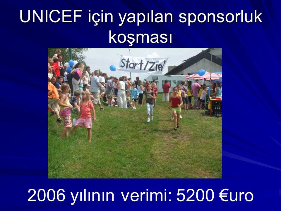 UNICEF için yapılan sponsorluk koşması