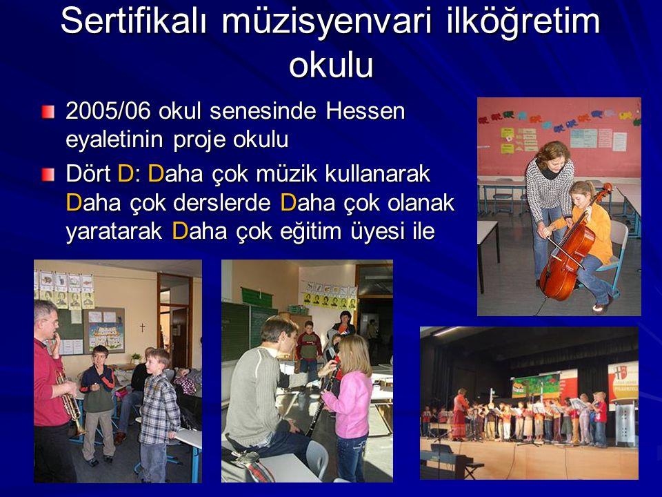 Sertifikalı müzisyenvari ilköğretim okulu