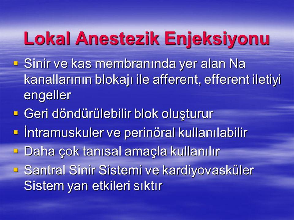 Lokal Anestezik Enjeksiyonu