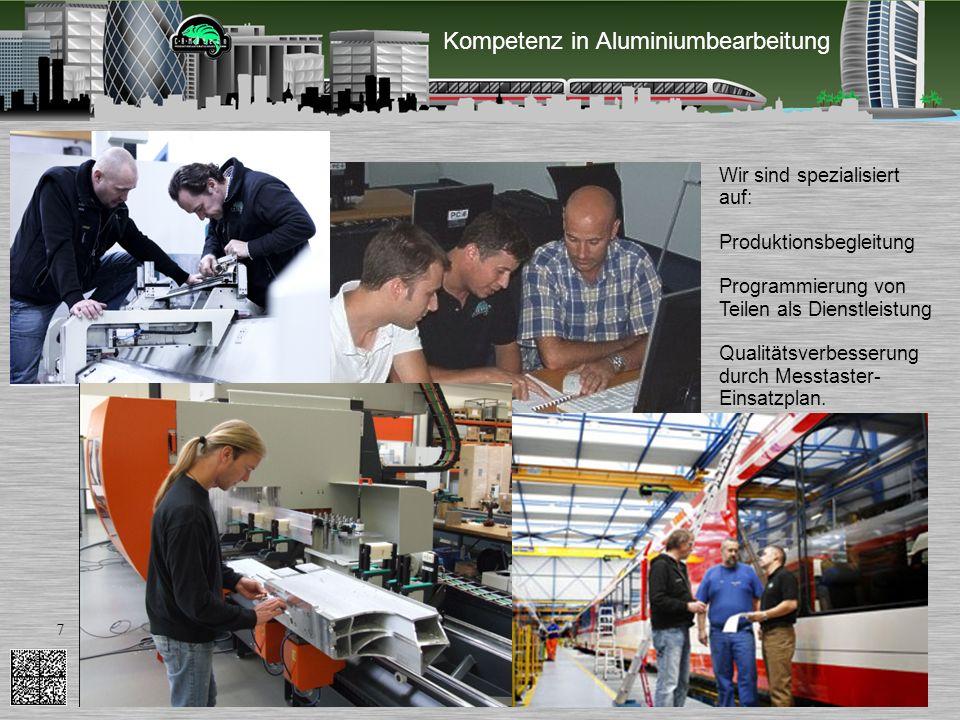 Kompetenz in Aluminiumbearbeitung