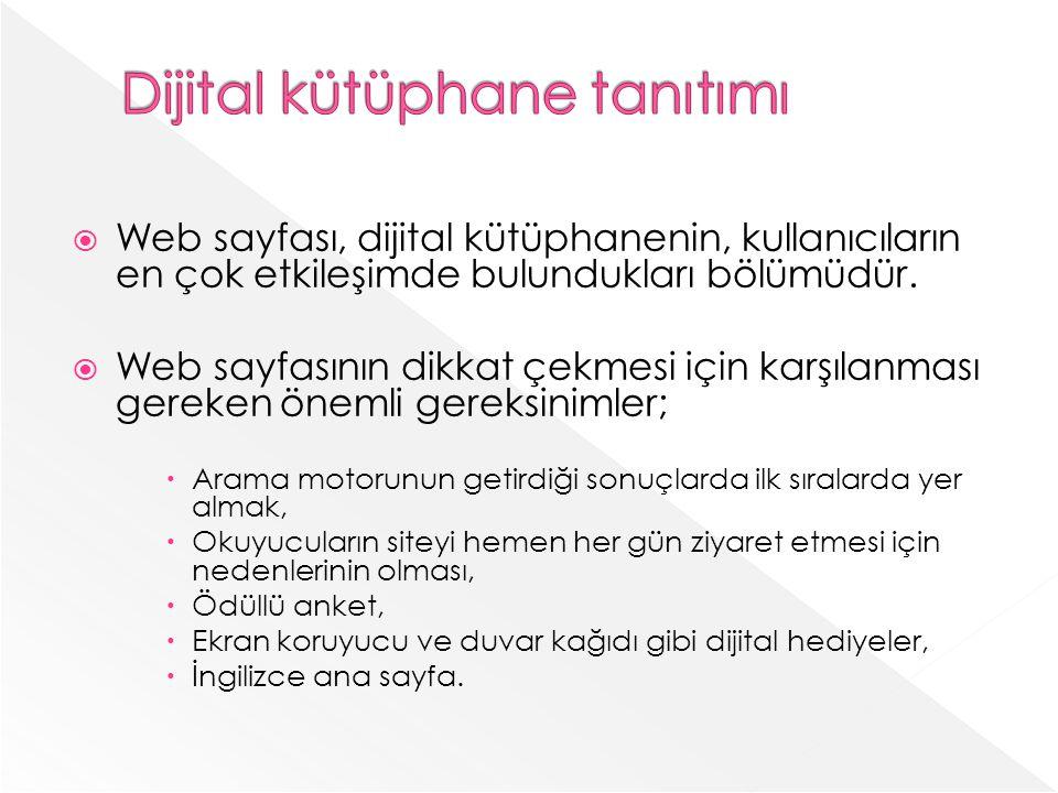 Dijital kütüphane tanıtımı