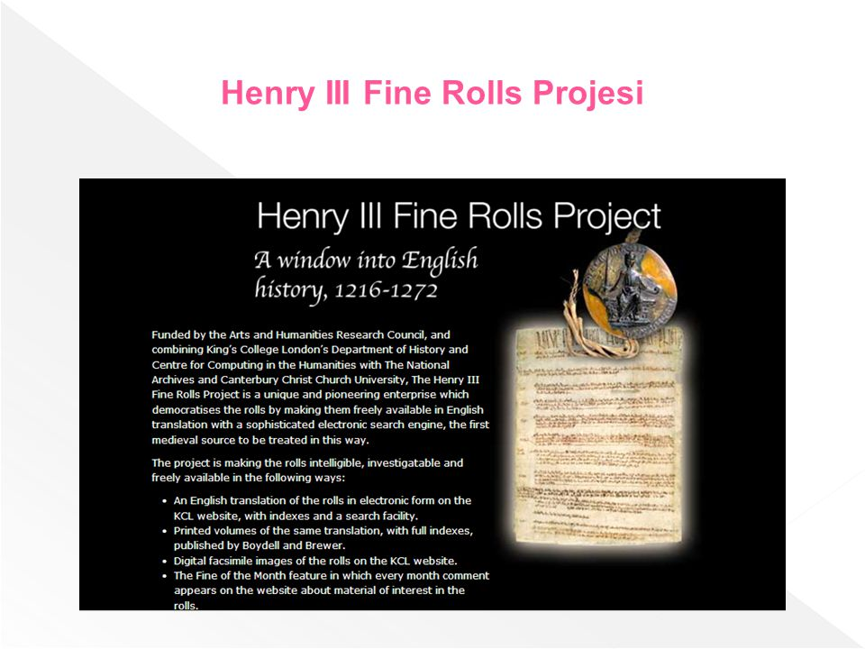 Henry III Fine Rolls Projesi
