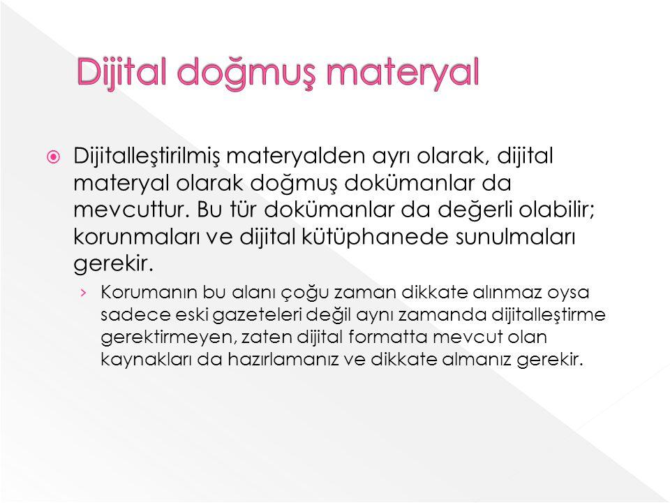 Dijital doğmuş materyal