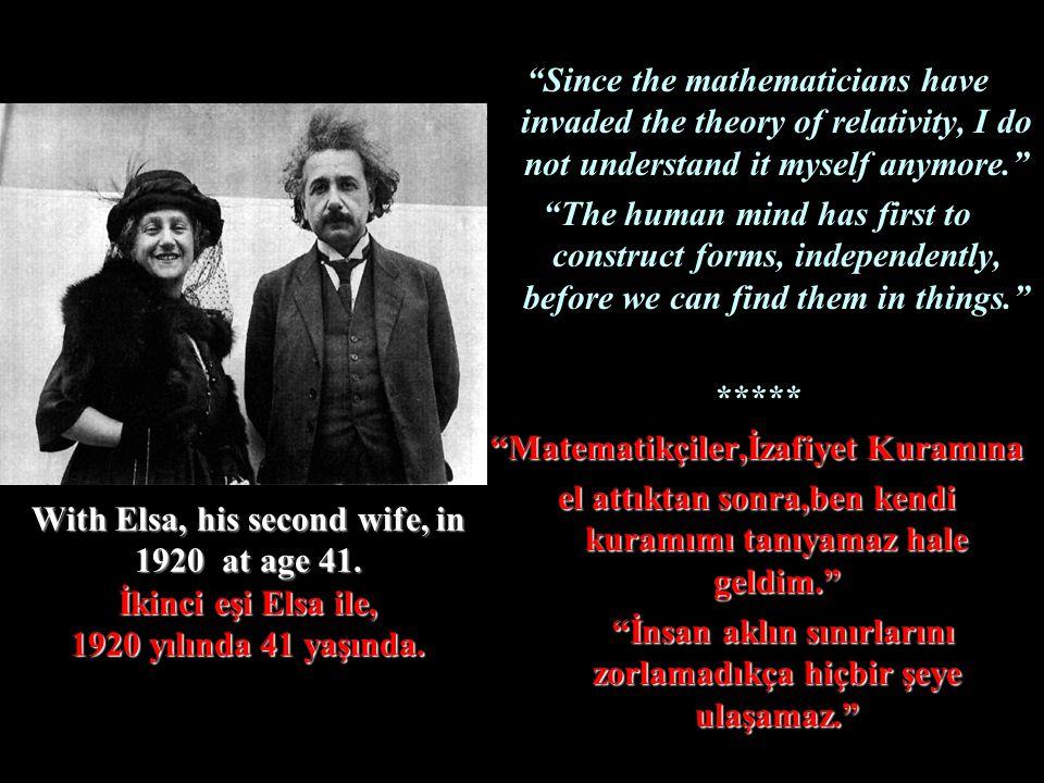 Matematikçiler,İzafiyet Kuramına
