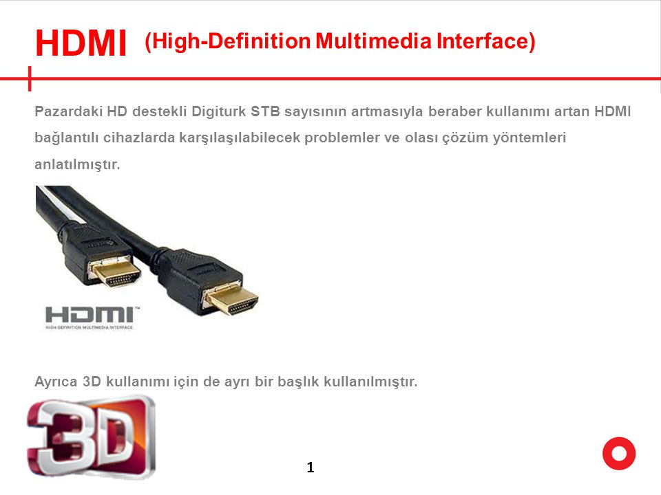 HDMI (High-Definition Multimedia Interface) 1