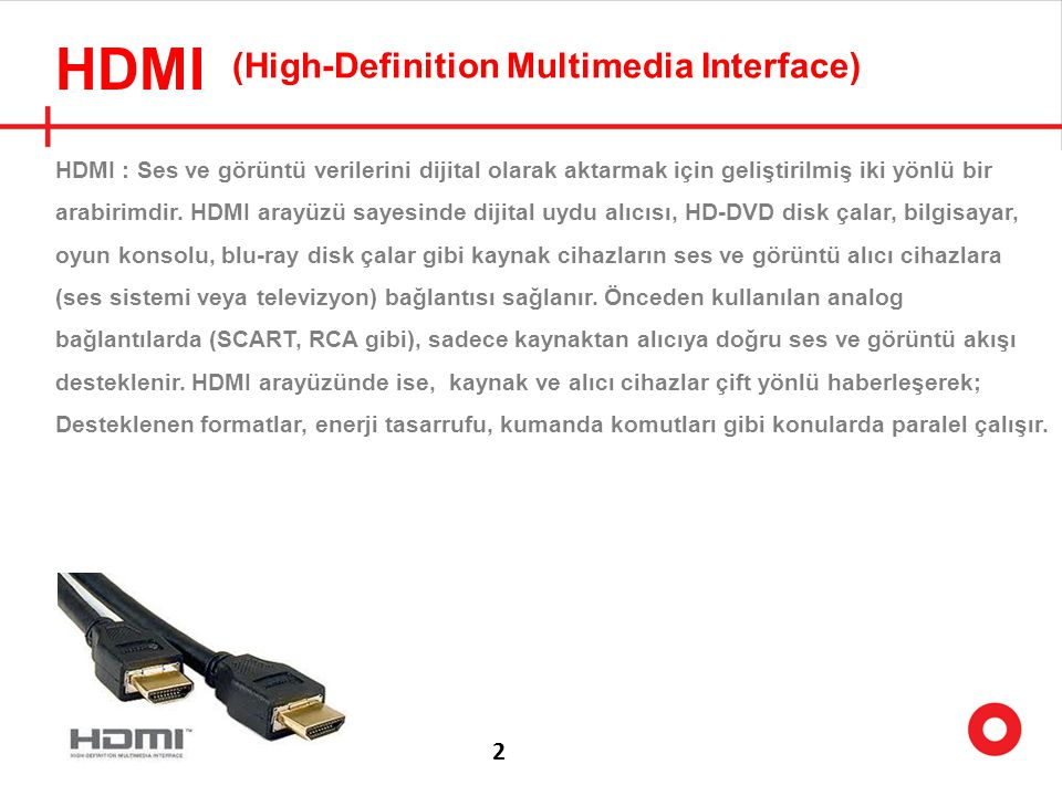 HDMI (High-Definition Multimedia Interface) 2