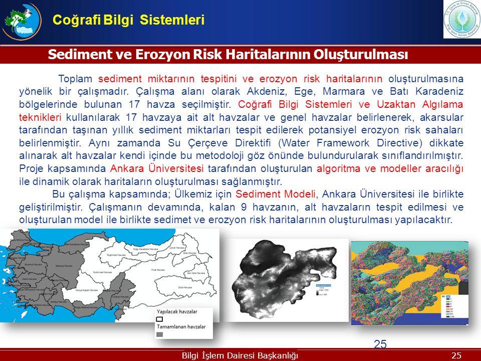 Sediment ve Erozyon Risk Haritalarının Oluşturulması
