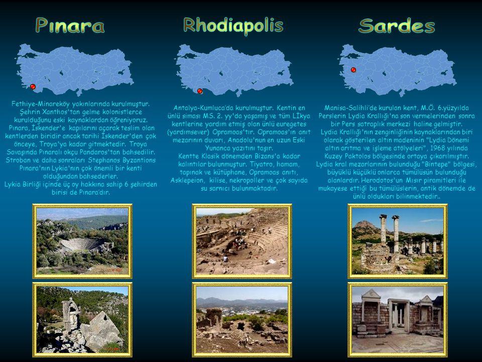 Pınara Rhodiapolis Sardes