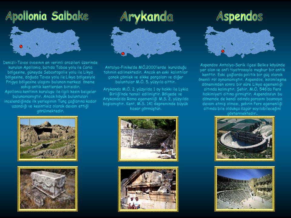 Apollonia Salbake Arykanda Aspendos