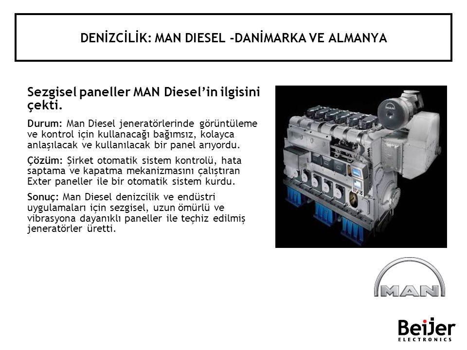 DENİZCİLİK: MAN DIESEL -DANİMARKA VE ALMANYA