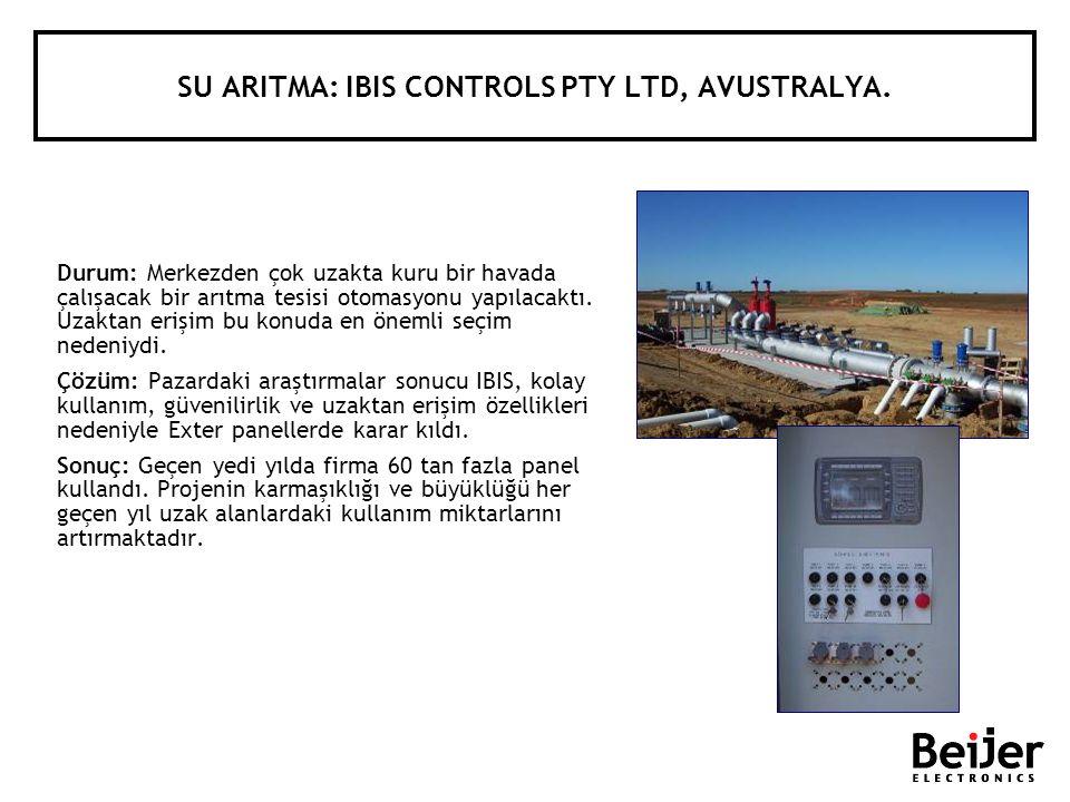 SU ARITMA: IBIS CONTROLS PTY LTD, AVUSTRALYA.