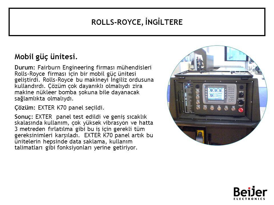 ROLLS-ROYCE, İNGİLTERE