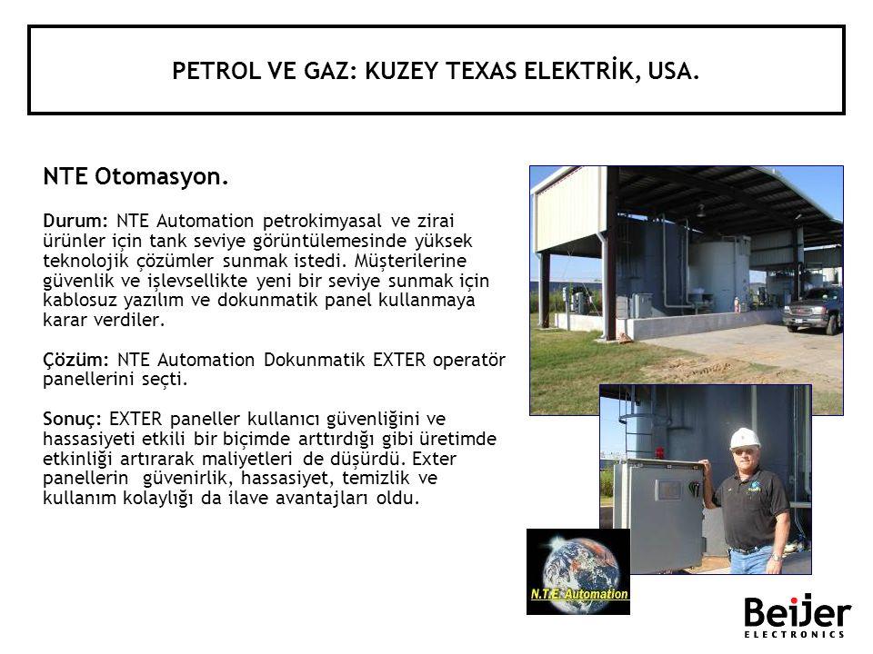 PETROL VE GAZ: KUZEY TEXAS ELEKTRİK, USA.