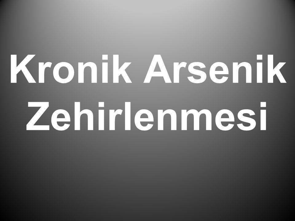 Kronik Arsenik Zehirlenmesi
