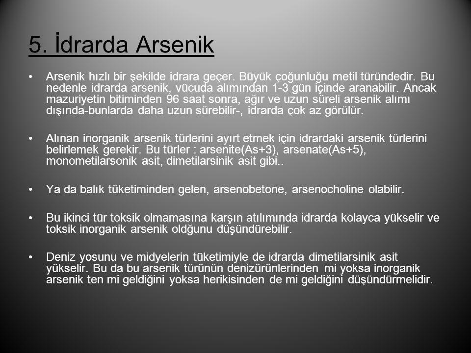 5. İdrarda Arsenik
