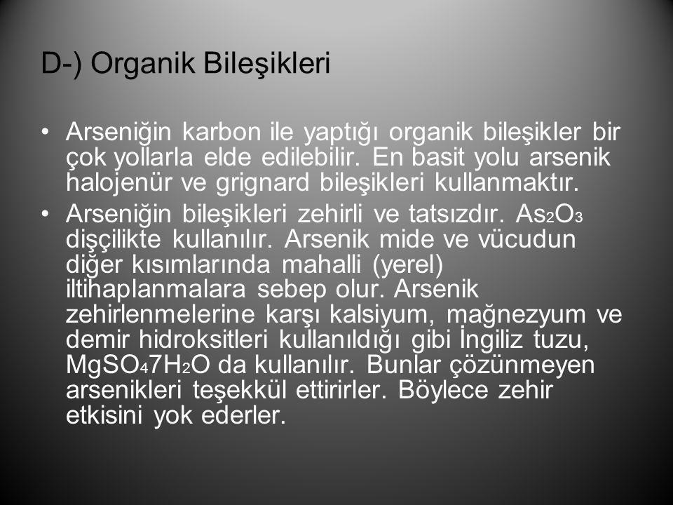 D-) Organik Bileşikleri