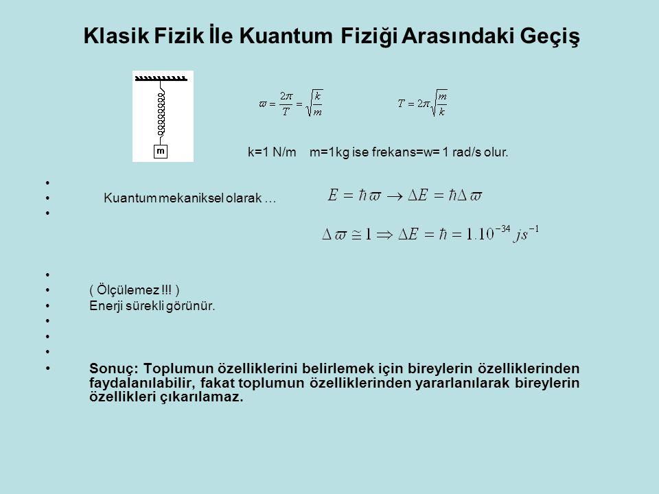 Klasik Fizik İle Kuantum Fiziği Arasındaki Geçiş