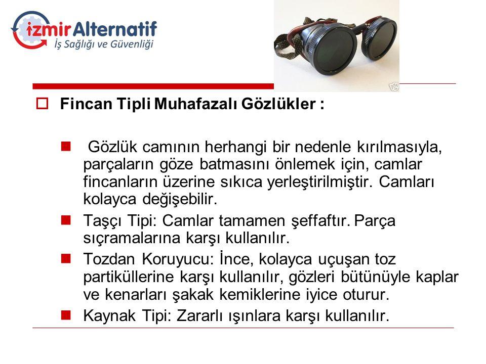 Fincan Tipli Muhafazalı Gözlükler :