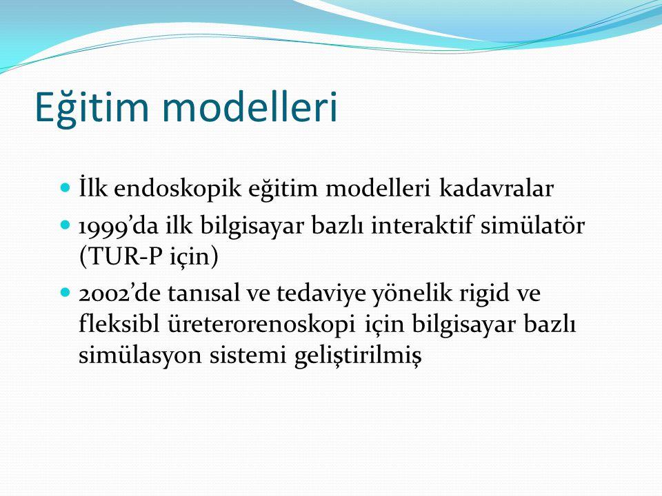 Eğitim modelleri İlk endoskopik eğitim modelleri kadavralar