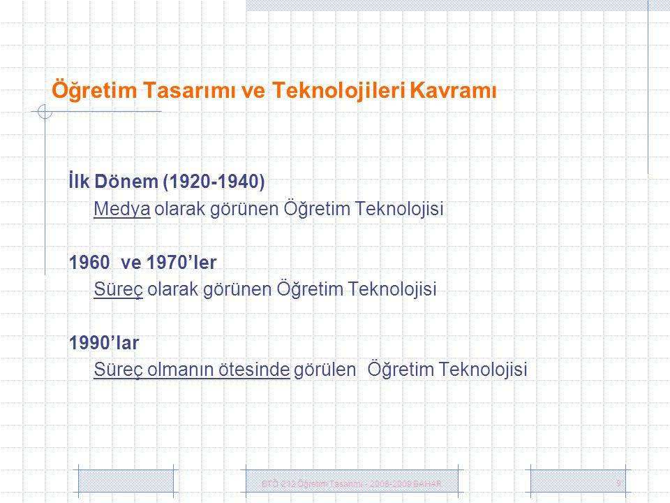 Öğretim Tasarımı ve Teknolojileri Kavramı