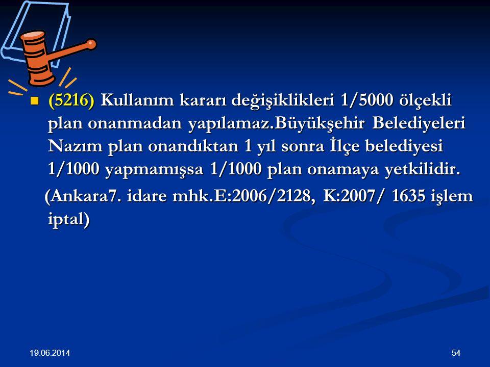 (Ankara7. idare mhk.E:2006/2128, K:2007/ 1635 işlem iptal)