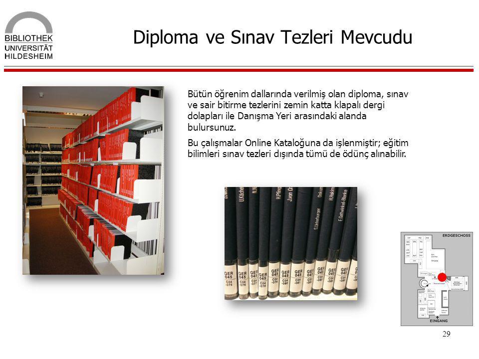Diploma ve Sınav Tezleri Mevcudu