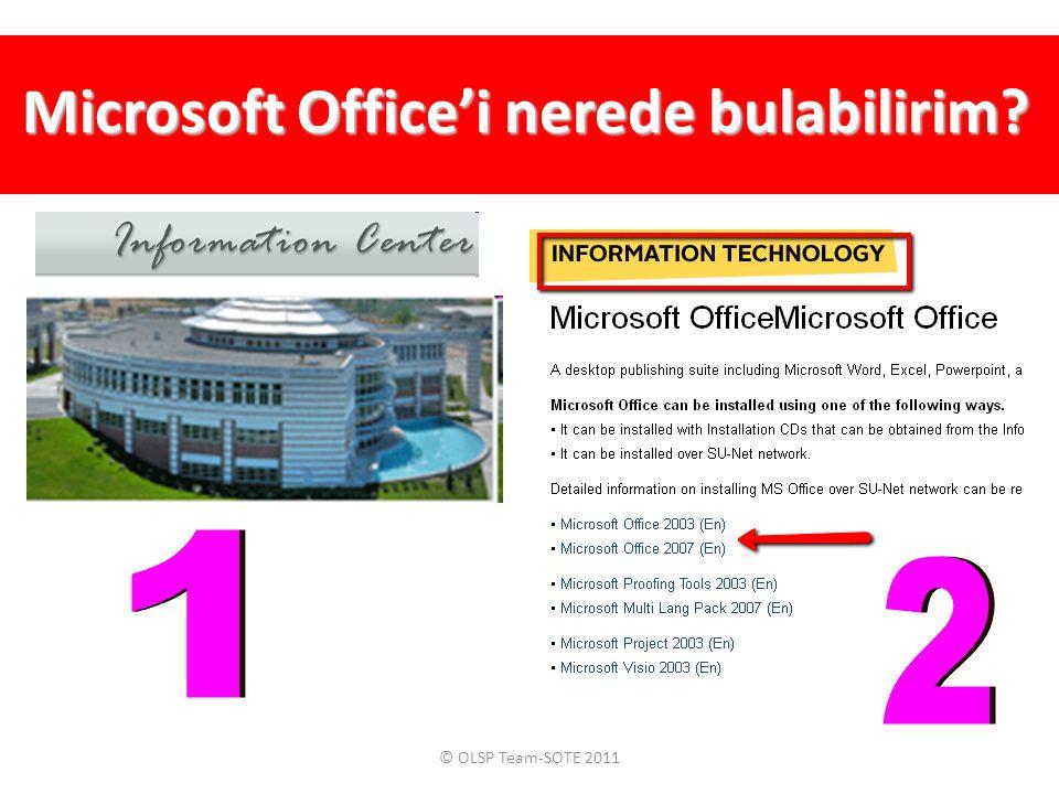 Microsoft Office'i nerede bulabilirim