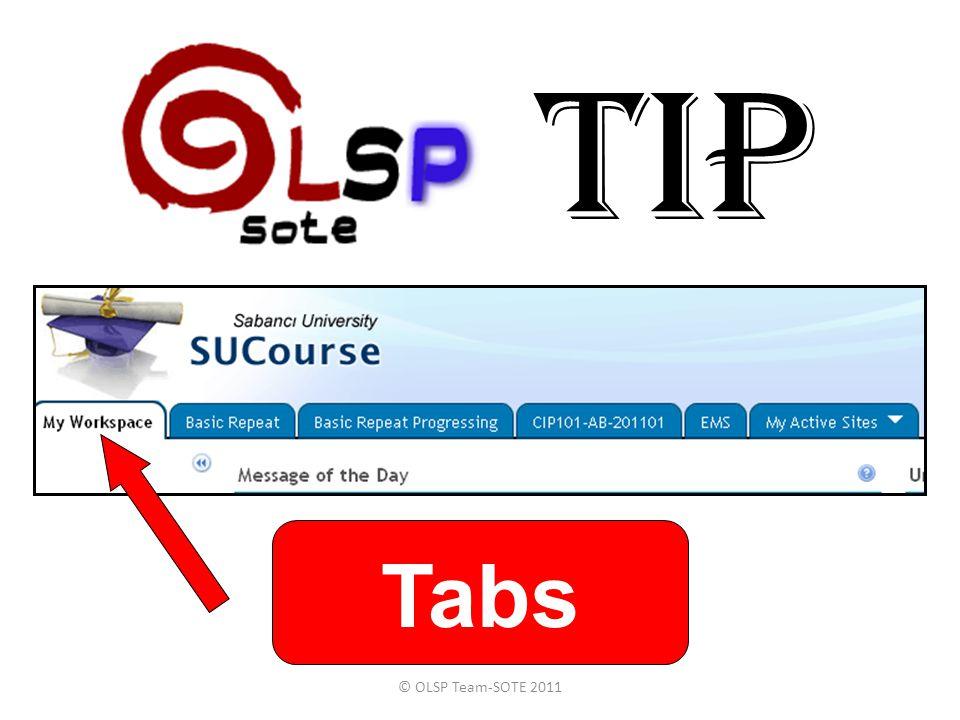 TIP Tabs © OLSP Team-SOTE 2011