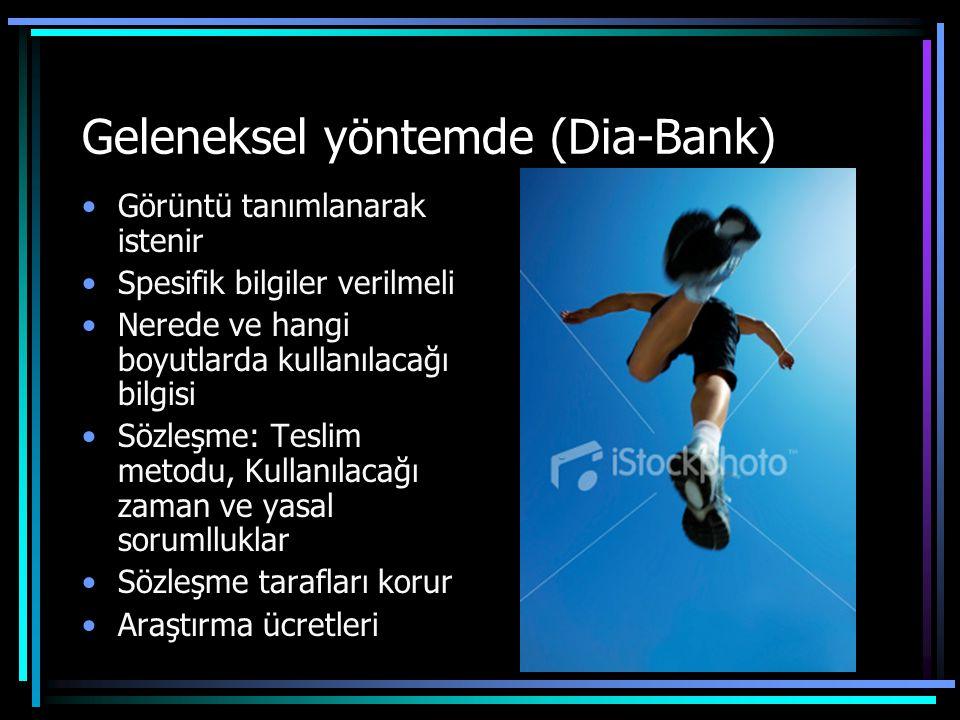 Geleneksel yöntemde (Dia-Bank)