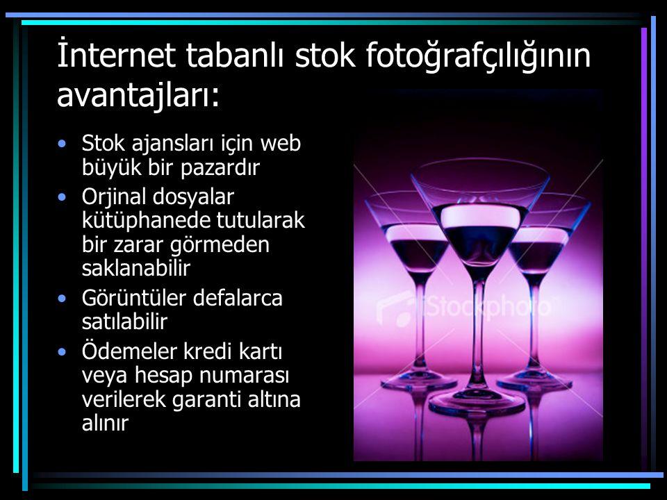 İnternet tabanlı stok fotoğrafçılığının avantajları: