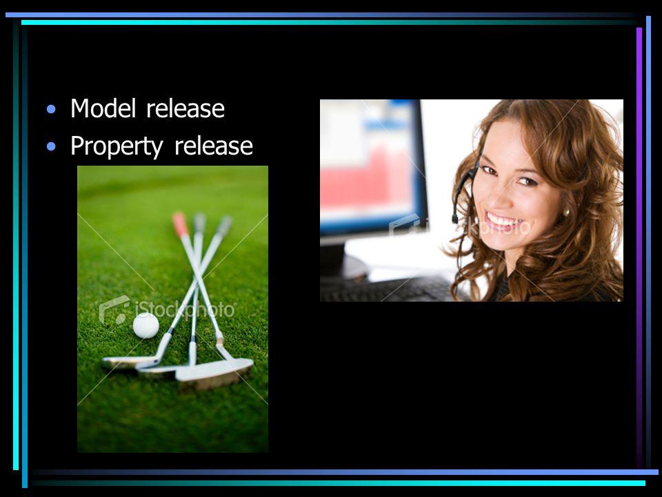 Model release Property release