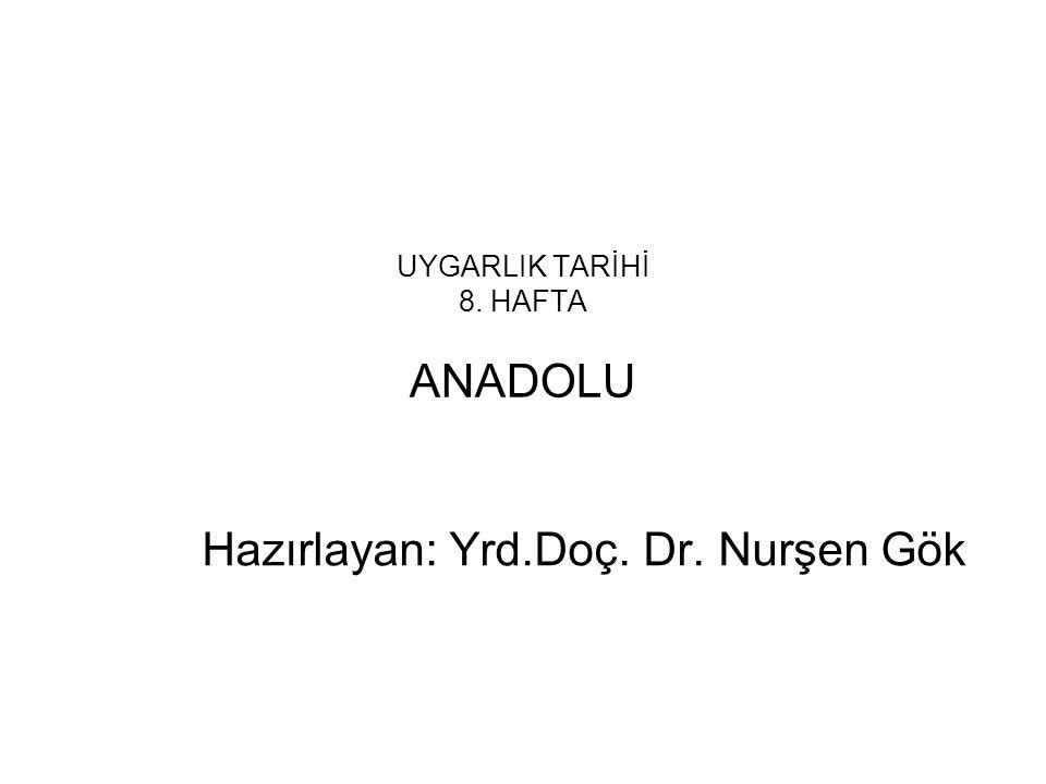 UYGARLIK TARİHİ 8. HAFTA ANADOLU
