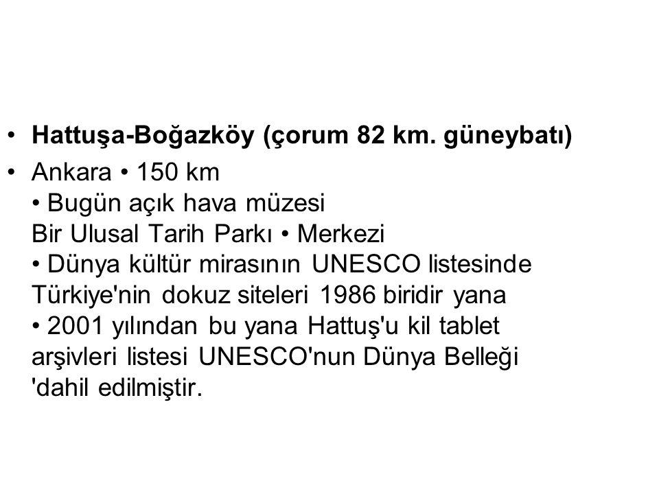 Hattuşa-Boğazköy (çorum 82 km. güneybatı)