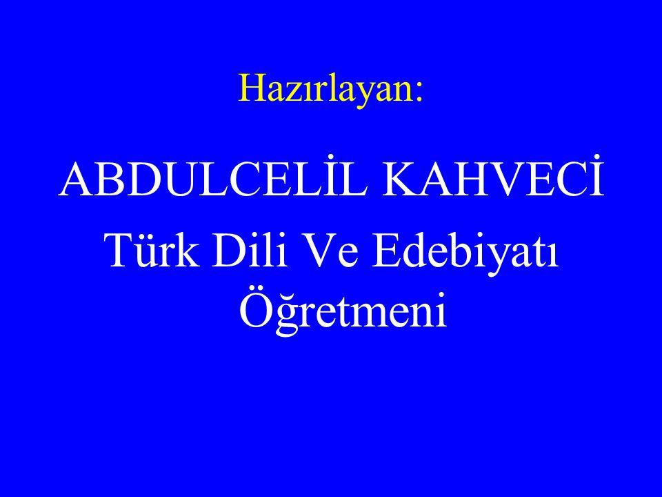 Türk Dili Ve Edebiyatı Öğretmeni