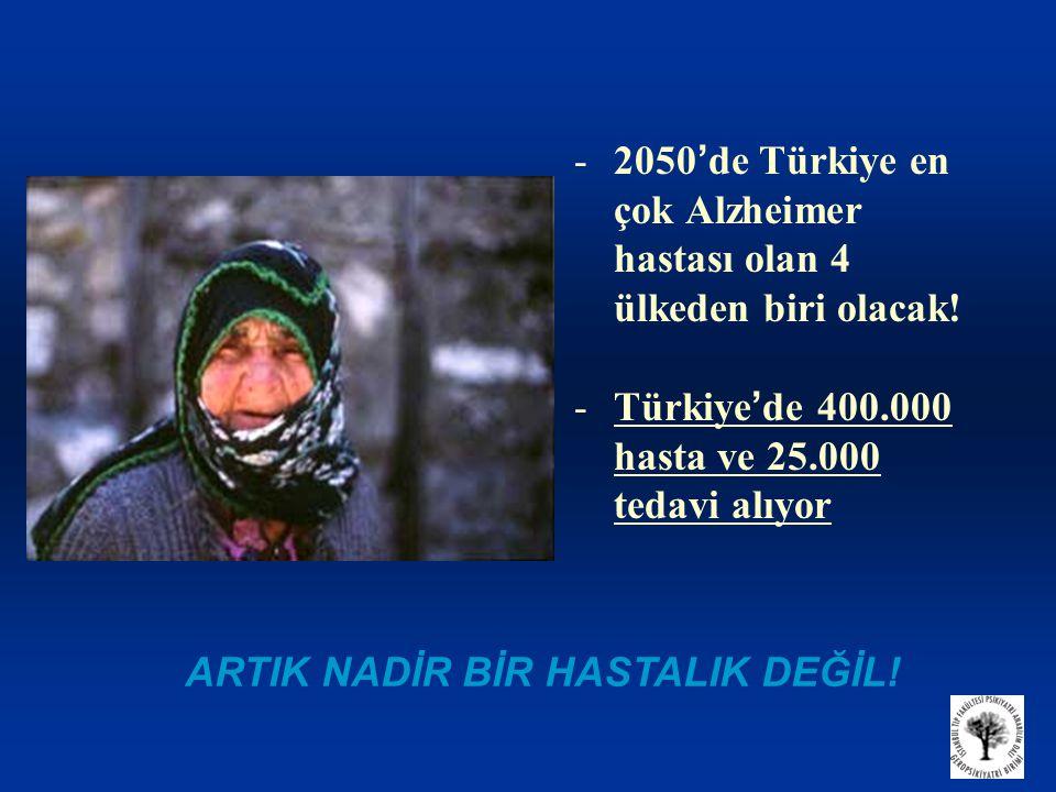 2050'de Türkiye en çok Alzheimer hastası olan 4 ülkeden biri olacak!