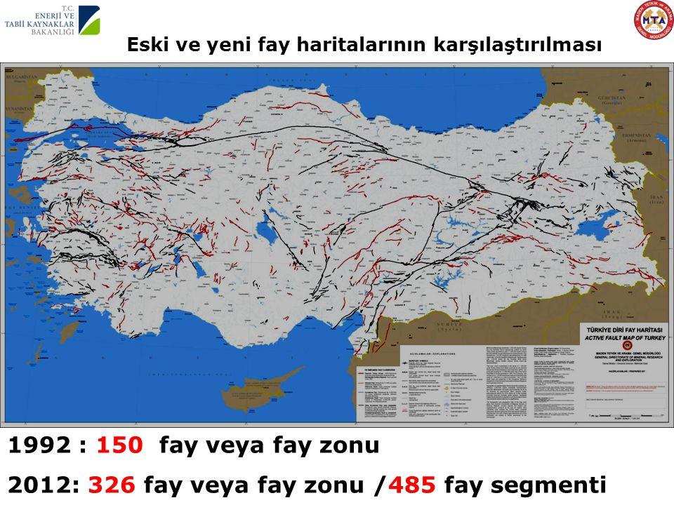 2012: 326 fay veya fay zonu /485 fay segmenti