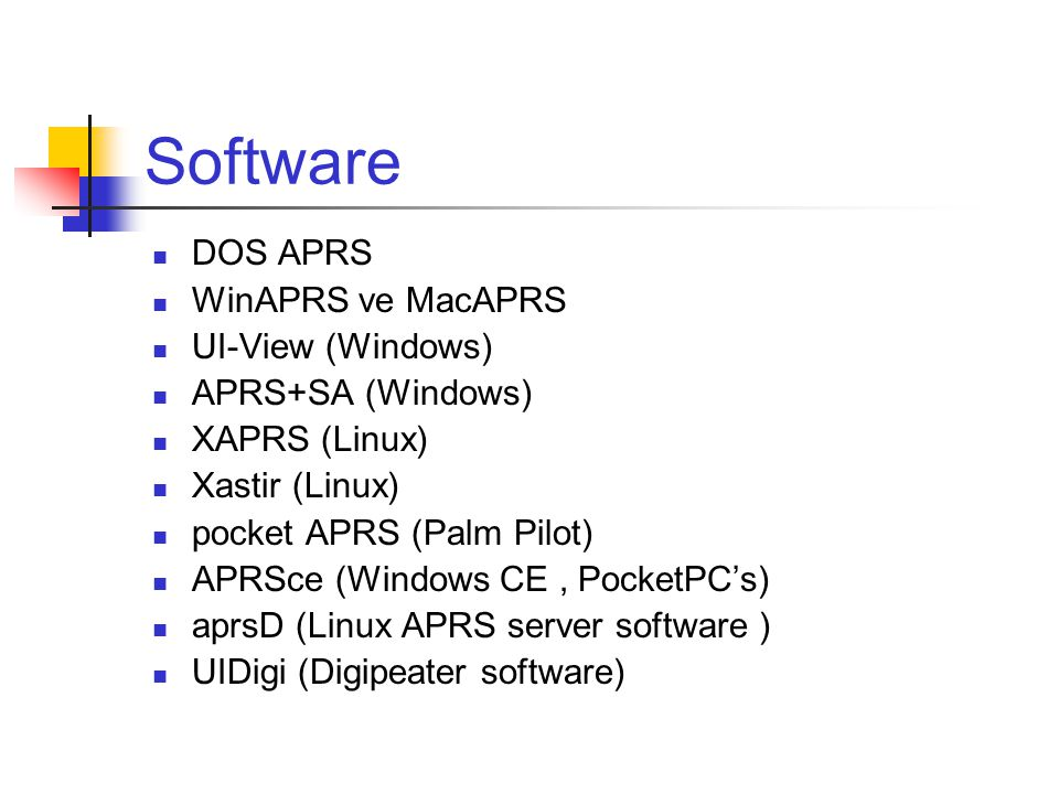 Software DOS APRS WinAPRS ve MacAPRS UI-View (Windows)