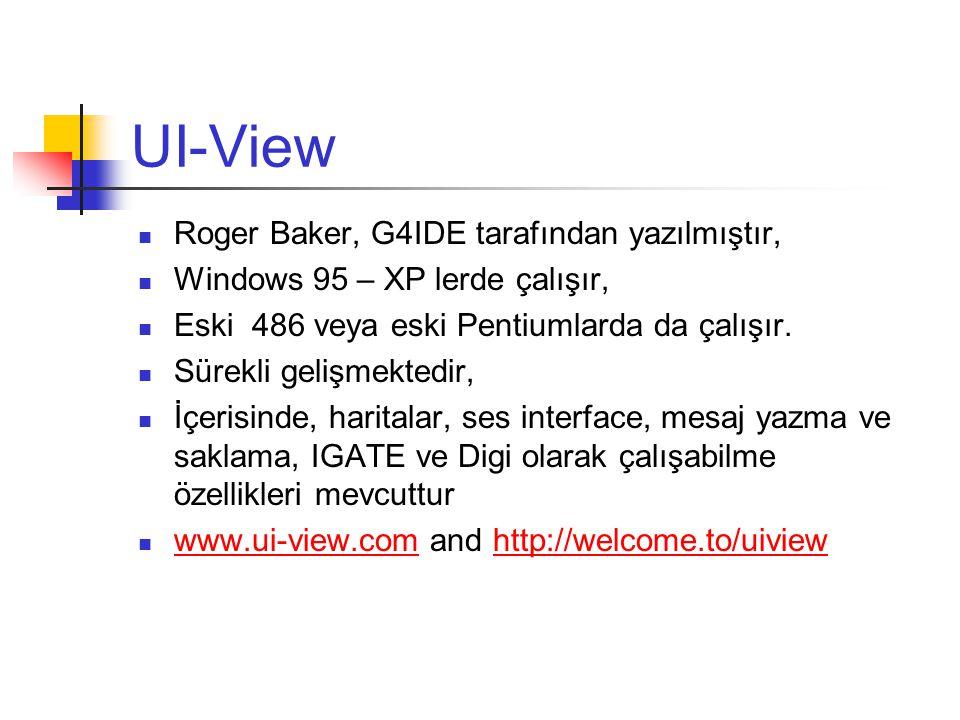 UI-View Roger Baker, G4IDE tarafından yazılmıştır,