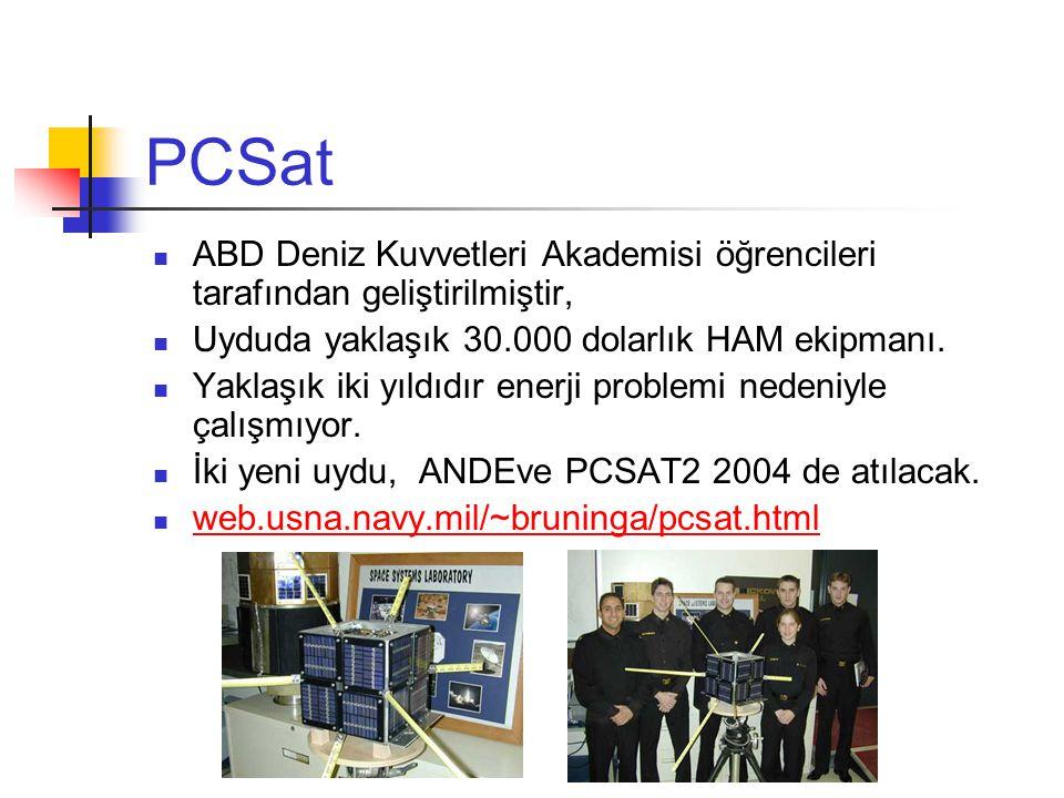 PCSat ABD Deniz Kuvvetleri Akademisi öğrencileri tarafından geliştirilmiştir, Uyduda yaklaşık 30.000 dolarlık HAM ekipmanı.