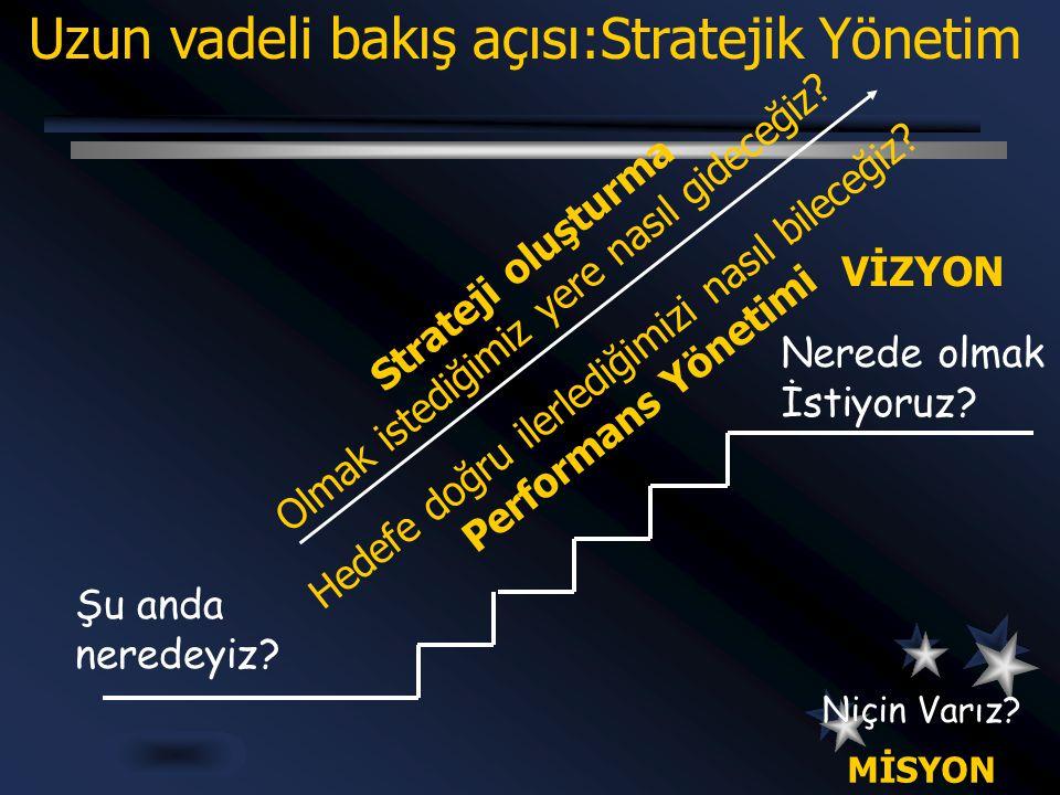 Uzun vadeli bakış açısı:Stratejik Yönetim