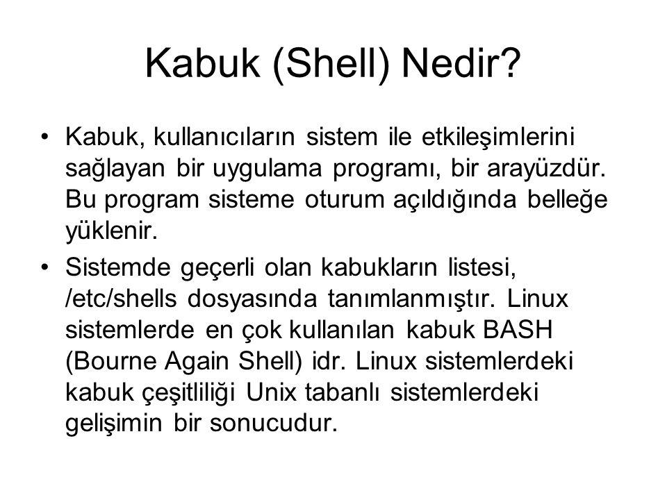 Kabuk (Shell) Nedir